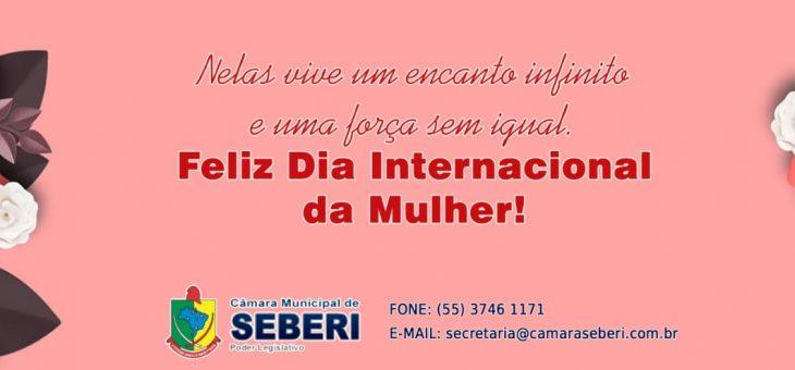 Homenagem da Câmara Municipal de Vereadores de Seberi a todas as Mulheres!